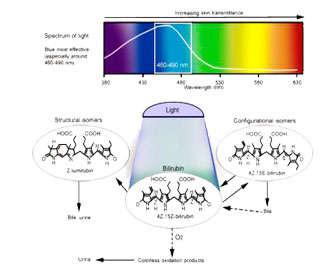 Espectro de luz en fototerapia