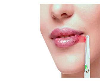 infrarrojos para curar el hepes en el labio