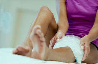hielo para tendinitis de rodilla