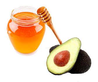 tratamiento para el cabello con aguacate, miel y aceite de oliva
